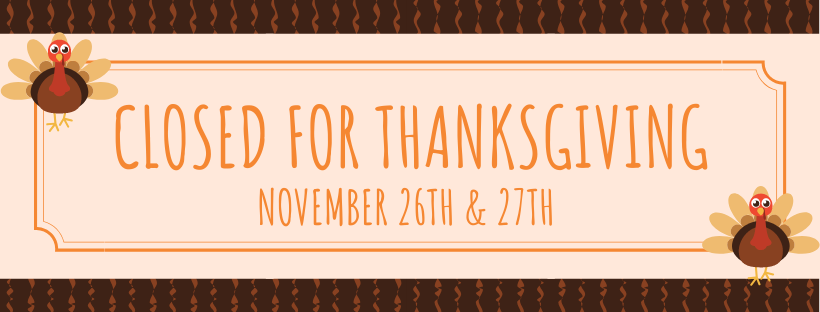 Closed for Thanksgiving - Tyson Public Library